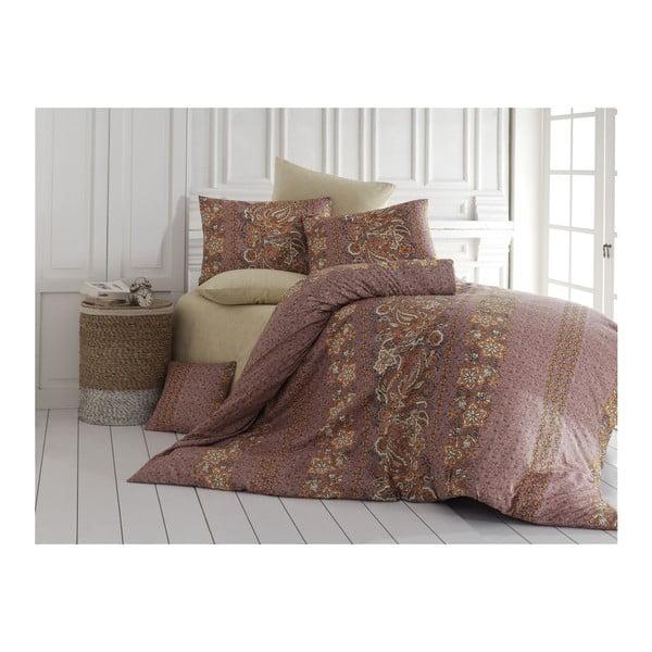 Lenjerie de pat cu cearșaf Herra, 200x220cm