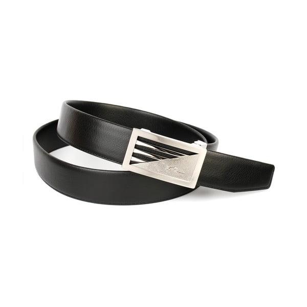 Pánský kožený pásek 11T10 Black, 110 cm