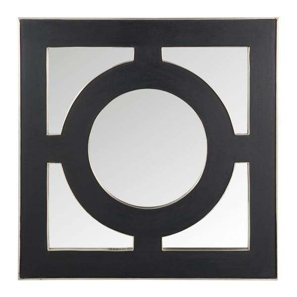 Nástěnné zrcadlo Circle 93x93 cm, černé