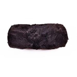 Kožešinový podhlavník Blacky, 20x50 cm