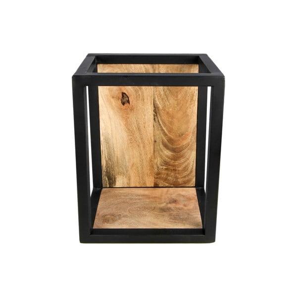 Półka ścienna z detalem z drewna mangowca HSM collection Caria, 25x35 cm