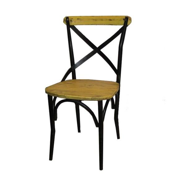 Židle Chaise Industrielle Jaune