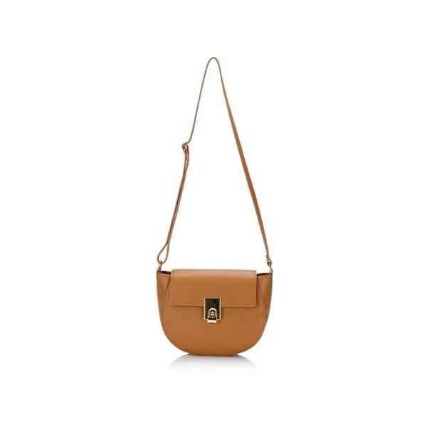 Kožená kabelka Lisa Minardi 5928 Cognac