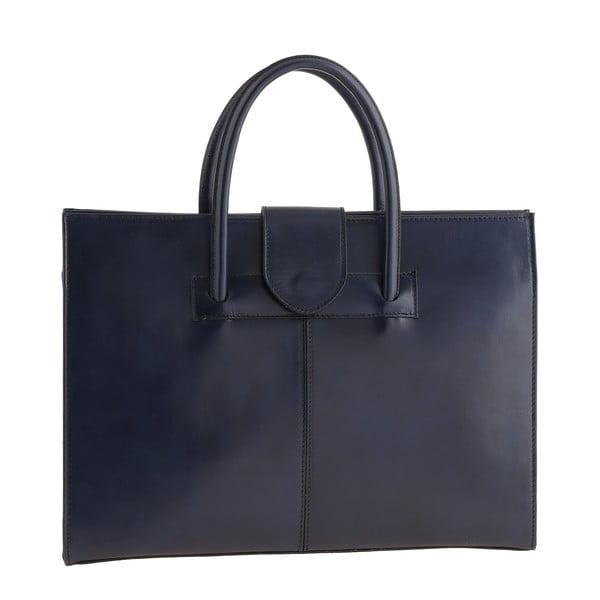Modrá kožená kabelka Ore Diece Bari
