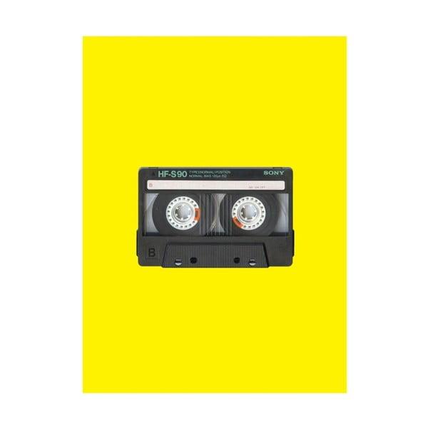 Objets Cultes Tape poszter, 30 x 40 cm - Blue-Shaker