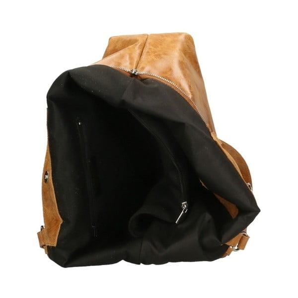 Koňakově hnědá kožená kabelka Chicca Borse Terracia