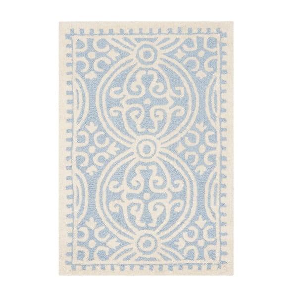 Vlněný koberec Safavieh Marina Blue, 152 x 91 cm
