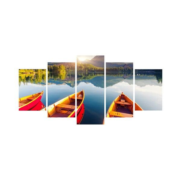 5dílný obraz Na loďce