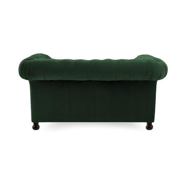 Canapea 2 locuri Vivonita Chesterfield, verde închis