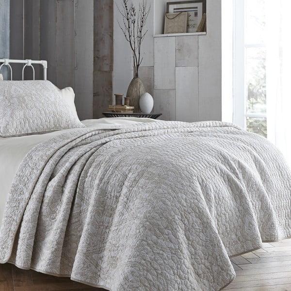 Světle béžový přehoz přes postel Bianca Simplicity, 200x200cm