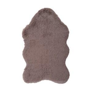 Hnědý kožešinkový koberec Floorist Soft Bear, 90x140cm