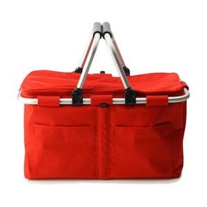 Nákupní košík na zip s termovrstvou, červený