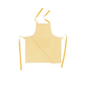 Șorț din bumbac Tiseco Home Studio Hexagon, galben imagine