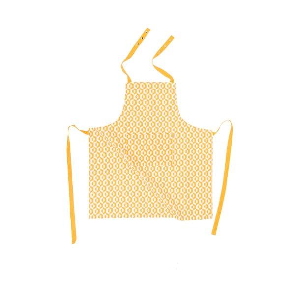 Žltá bavlnená zástera Tiseco Home Studio He×agon