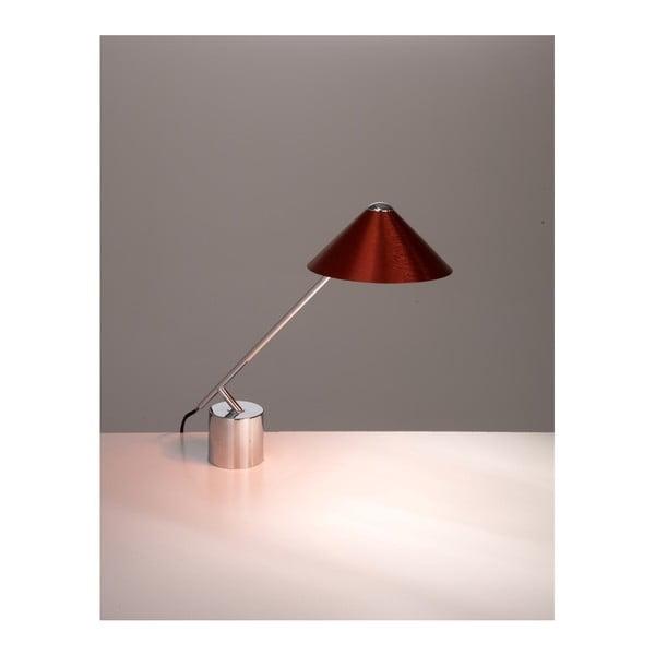 Stolní lampa s červeným stínidlem Design Twist Fao