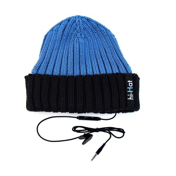 Hi-Hat Zimní čepice se sluchátky, modrá