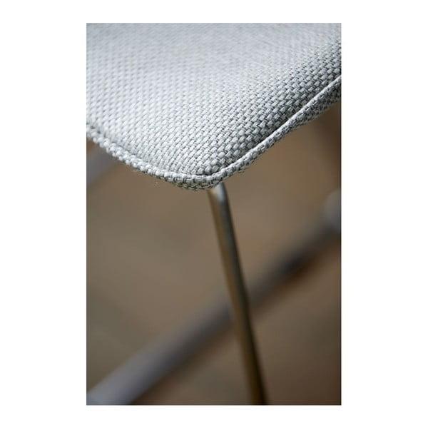 Sada 4 šedých barových židlí Canett Delta