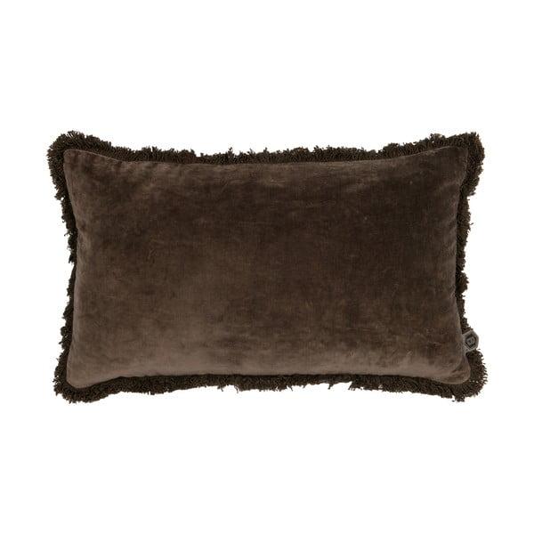 Hnědý dekorativní polštář BePureHome Velvet Coffee, 50 x 30 cm