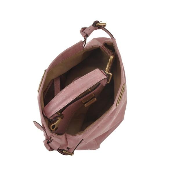 Růžová kožená kabelka Florence Electra