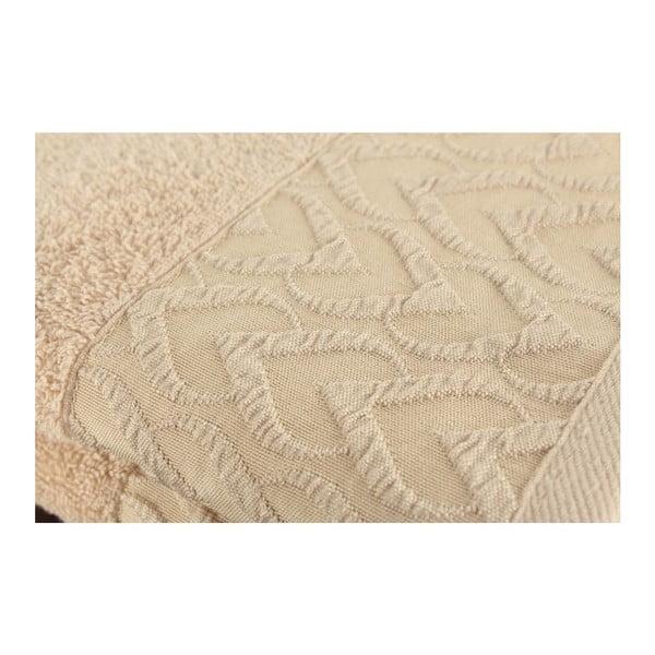 Sada 2 hnědých osušek Kalp, 50x90 cm