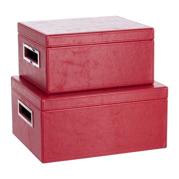 Set 2 koženkových boxů Red