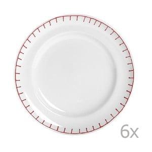 Sada 6 talířů Sophie Stitch 21 cm, červený