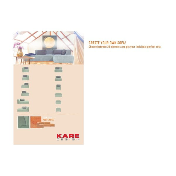 Šedý puf Kare Design Infinity, 68x100cm