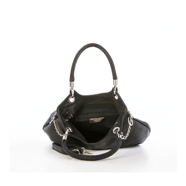Kožená kabelka Federica Bassi Joanna, černá