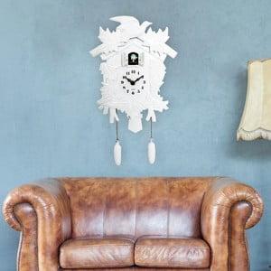 Bílé nástěnné kukačkové hodiny WALPLUS Cuckoo