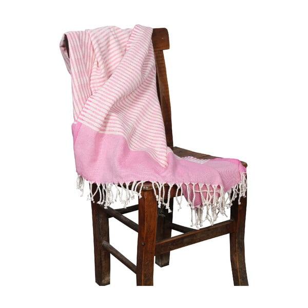 Růžová hammam osuška Yummy Pink, 90x190cm