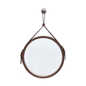 Závěsné zrcadlo v hnědém rámu RGE Elvis, ø 30 cm
