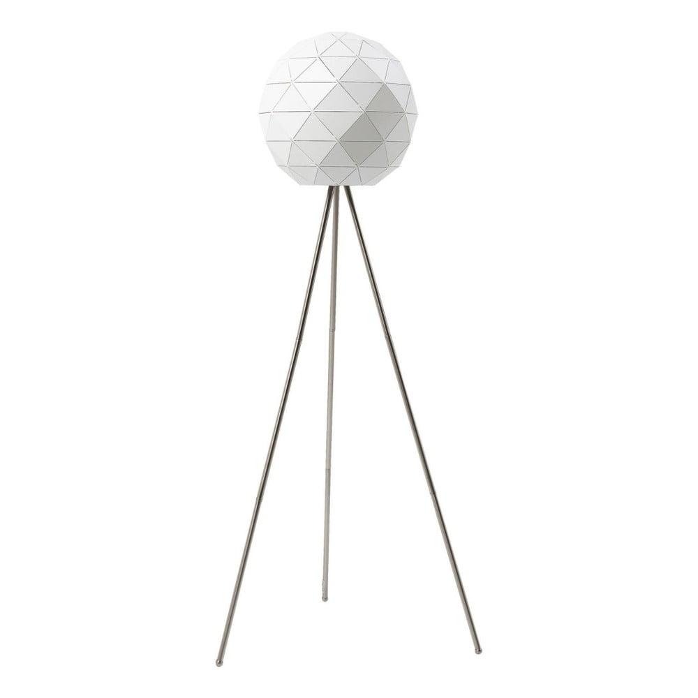 Bílá volně stojící lampa Kare Design Triangle, 160 cm