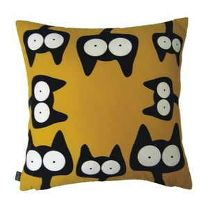 Polštář Žluté kočky, 40x40 cm