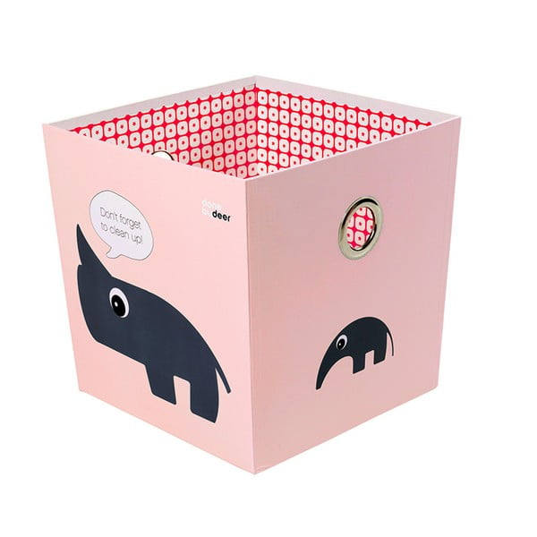 Úložná krabice Deer, růžová