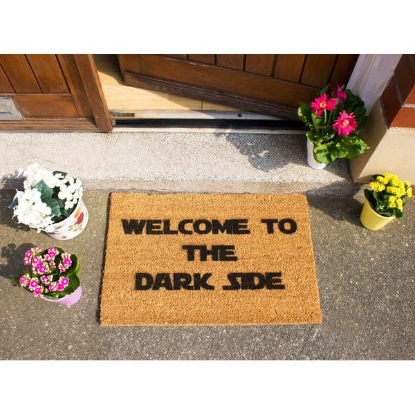 Rohožka z přírodního kokosového vlákna Artsy Doormats Welcome to the Darkside,40x60cm