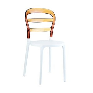Židle MIss Bibi White/Amber