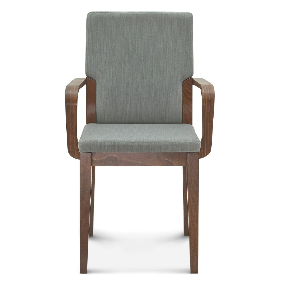 Šedá dřevěná židle Fameg Silje