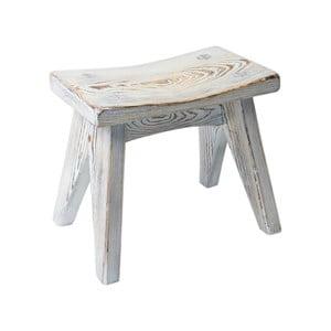 Dřevěná stolička Gie El Home Stool, bílé dřevo