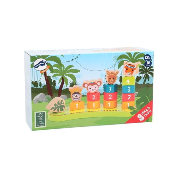 Detská drevená skládačka Legler Jungle
