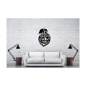 Černá nástěnná dekorace Oyo Concept Lemons, 60x50cm