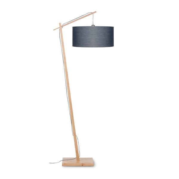 Andes állólámpa sötétszürke búrával és bambusz lámpatesttel - Good&Mojo