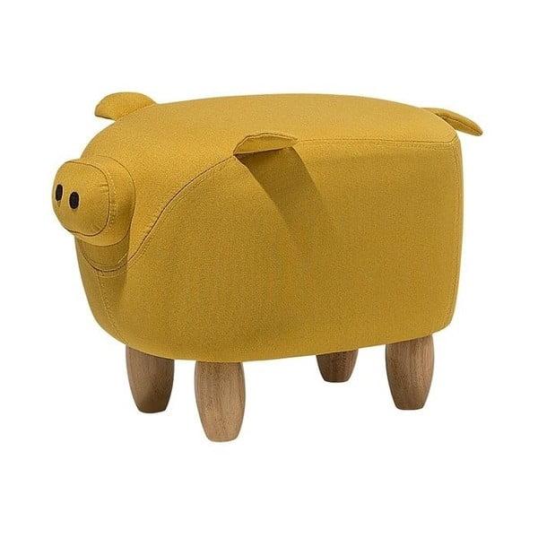 Žlutá podnožka ve tvaru prasátka Monobeli Pig, 32x50cm