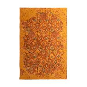 Oboustranný oranžovo-šedý koberec Vitaus Normani, 77 x 200 cm