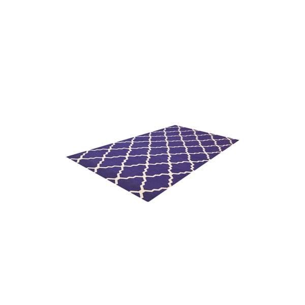 Vlněný modrý koberec Bakero Kilim Jasmina, 200x290cm