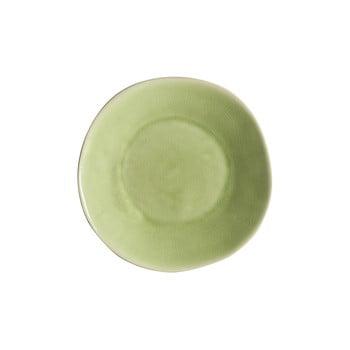 Farfurie adâncă din gresie ceramică Costa Nova Riviera, ⌀ 25 cm, verde