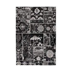 Černý vzorovaný koberec Kayoom Memorial, 80 x 150 cm