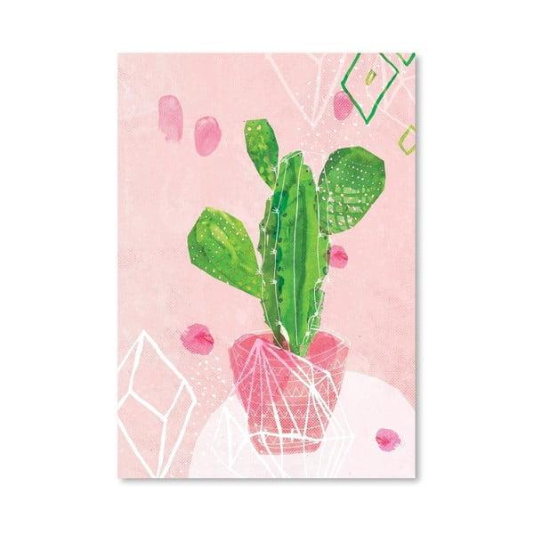 Plakát Pastel Cactus, 30x42 cm