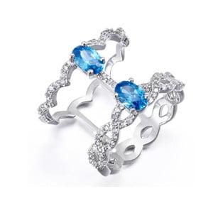 Prsten s bílými a modrými krystaly Swarovski Elements Crystals Ocean, ø16mm