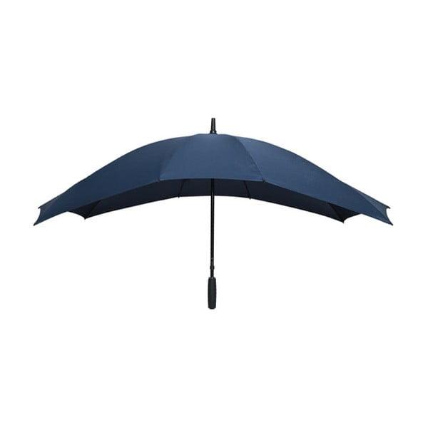 Tmavě modrý golfový deštník pro dvě osoby Ambiance Falconetti, délka150cm
