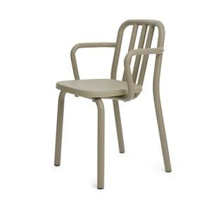 Olivová židle s područkami Mobles 114 Tube